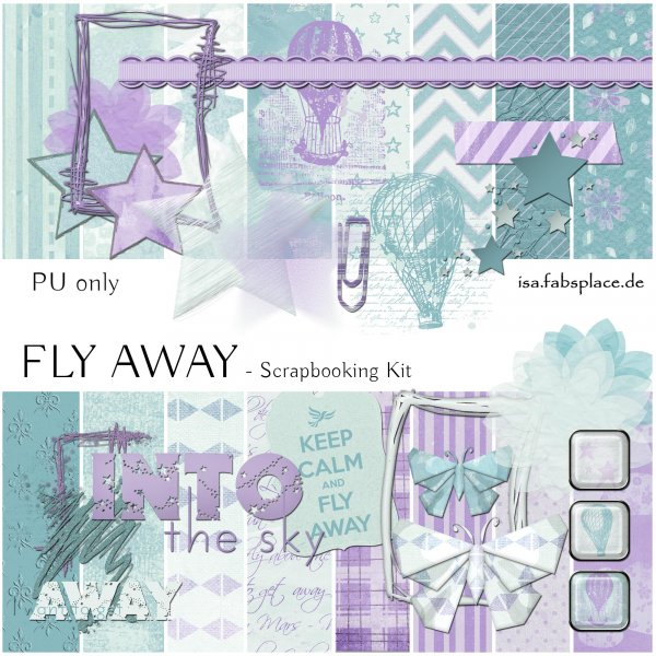 scrapbooking kit fly away isa 39 s place. Black Bedroom Furniture Sets. Home Design Ideas